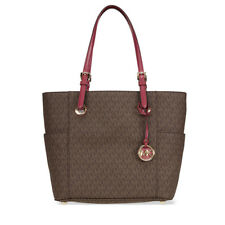 Michael Kors Jet Set Travel Small Logo Tote In Brown-Mulberry