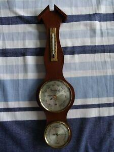 Wetterstation Holz Barometer Thermometer Hygrometer