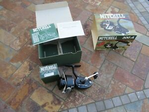 Vintage Mitchell 300 A Spin Cast Fishing Reel New Old Stock, OB