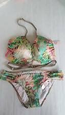 Victorias Secret Strappy Hottie Halter Body Wrap Push-Up 34D Bikini Top & Bottom