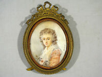 Antique MINIATURE PAINTING OF A YOUNG WOMAN - SIGNED RODLER