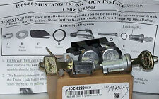 65,66 MUSTANG IGNITION - DOOR MATCHED LOCK SET,TRUNK  LOCK & Bezel w/PONY KEY
