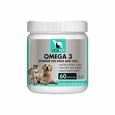 Vitapet Omega Fish Oil Powder with EPA and DHT for Dogs and Cats with CoQ10