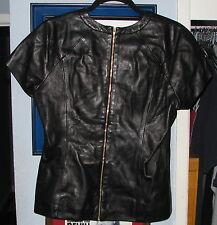 Alexander Wang Runway Lambskin Black Zipper Leather Shirt Large