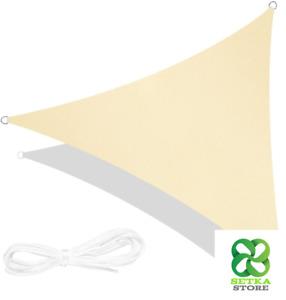 RATEL Tenda a Vela Triangolo Sabbia 3,6 × 3,6 × 3,6 Metri, Tende da Sole Imperme