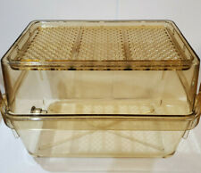 Small Rodent Cage and Top high-temp Polycarbonate w/ water delivery grommet