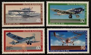 Alemania RFA / BRD 1979, Aviation History (2), № Mi 1005-1008, SG 1886-1889 MNH