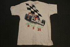 Vintage 90s Marlboro Racing Men's XL White CART Indycar Formula 1 Pocket T-Shirt