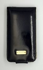 Pipetto vera pelle di lusso Handmade iPhone 4 FLIP CASE-Black Gold