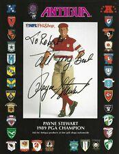 Payne Stewart Pro PGA Golfer Autographed 8x10 Magazine Picture Beckett COA