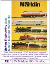 EE 1975 E EXC Marklin Maerklin Märklin Total Catalog 1975E Excellent Condition