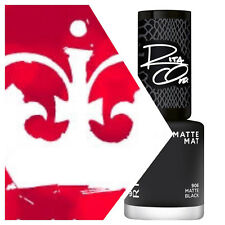 Rimmel Nail Polish Lacquer 60 Seconds Rita Ora 906 MATTE BLACK Black 8ml
