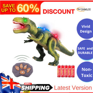 FiGoal Remote Control Dinosaur with LED Lights Walking and Roaring Sound