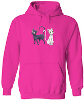 Unisex Hoodie Sweater Pullover Sweatshirt Print Sailor Moon Luna Artemis Cat
