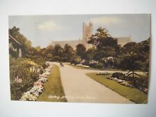 Selby Yorkshire Abbey & Park 1950s Old Postcard 1959 Frith Series