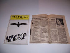 1983 AMBASSADOR THEATRE PLAYBILL & REVIEW - A VIEW FROM THE BRIDGE - TONY BIANCO