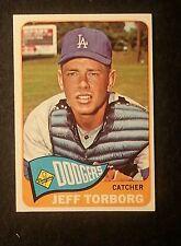 1965 TOPPS HIGH NUMBER SINGLE PRINT #527 JEFF TORBORG DODGERS - RARE ITEM