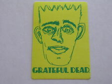 Rare Yellow GRATEFUL DEAD Jerry Doodle Face BACKSTAGE PASS