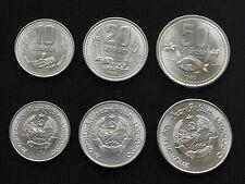LAO 1980 SET OF 3 COIN 10, 20, 50 ATT LAOS UNCIRCULATED KM#22,23,24.