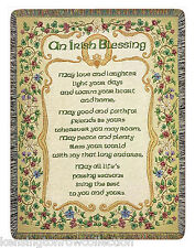 THROWS - IRISH BLESSING TAPESTRY THROW - IRISH - IRELAND - CELTIC THROW BLANKET