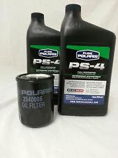 POLARIS PS-4 OIL FILTER CHANGE KIT 5W-50 SPORTSMAN RANGER RZR 570 600 700 800