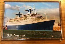NCL SS NORWAY At Southampton Photo Fridge Magnet Cruise Ship Ocean Liner