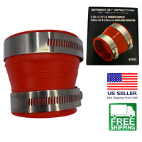 """Spectre 87522 Cold Air Intake Adapter 2.5""""x3"""" Reducer Coupler Fitting W/ Clamps."""