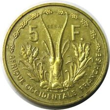 elf French West Africa 5 Francs 1956  Antelope ESSAI