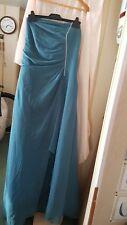 VINTAGE ? WEDDING BRIDESMAID PROM DRESS EBONY ROSE TERQUOISE STRAPLESS SZ 20