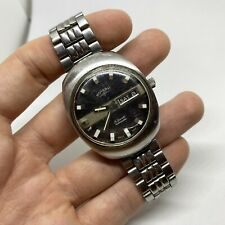 ROTARY 21 JEWELS AUTOMATIC DAY DATE VINTAGE SWISS MADE WATCH - RARE CASE SHAPE
