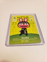 Snake # 055 55 Animal Crossing Amiibo Card Horizons Series 1 MINT NEVER SCANNED!