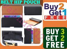 ★ For Karbonn Titanium Moghul ★ PU Leather Magnetic Flip Belt Hip Pouch Case