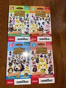 Animal Crossing Amiibo Card Pack Series 1, 2, 3, 4 (4 packs NEW Sealed)