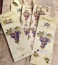 Lauren Hamilton New 5 Wine Bottle Holders Gift Totes Bags With Cards