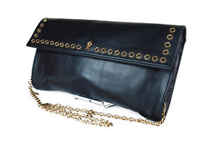 Roberta di Camerino Leather Black Chain Shoulder Bag RS0032