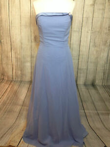 Beautiful Sky Blue Alfred Angelo Ballgown Prom Bridesmaid Dress Gown Size 12