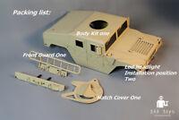 All Metal 1/10 Rc Hummer Military vehicles  body shellaxial Axial scx10 ii truck