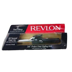1995 Vintage Revlon RV052C Curling Iron, 3/4' 12-Heat Settings Auto Shut Off NEW