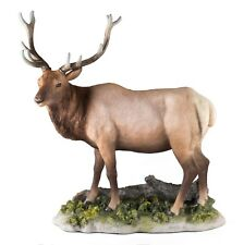 "Elk Buck Deer Figurine 7.5"" High - Highly Detailed Polystone New In Box!"