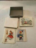 Vintage circa 1950's Greeting Card Lot of 14 Unused