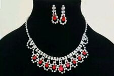 Red Necklace Set Party Wear UK Seller