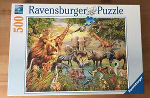 RAVENSBURGER 'Majestic Watering Hole' Safari Animals Jigsaw Puzzle 500 Pieces