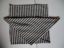 Set of 2 Stockholm Ikea Pillow Covers Black White Soft Cotton Velvet Covers Only
