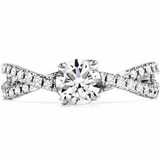 Engagement Ring In 14k White Gold Over 1.09 Ct Round Cut Clear Diamond Unique