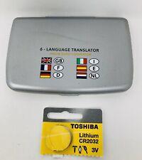 6 language translator and euro converter used w/ new battery (tested )