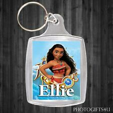 Personalised Disney MOANA Keyring / Bag Tag With Your Name - Large 35x45mm