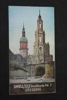 alte Karte Shell Stadtkarte Dresden Nr. 7 old vintage Sammler