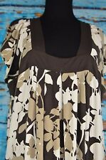 Gap Stretch Women's Peasant Dress Size Large Retro Colorful Full Length L Browns