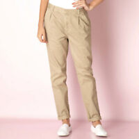 Women's stone beige colour cotton chino trousers from Firetrap size 8 10 and 12