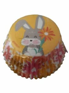Wilton Easter Bunny  Flowers 75 ct Standard Baking Cups Cupcake Liners